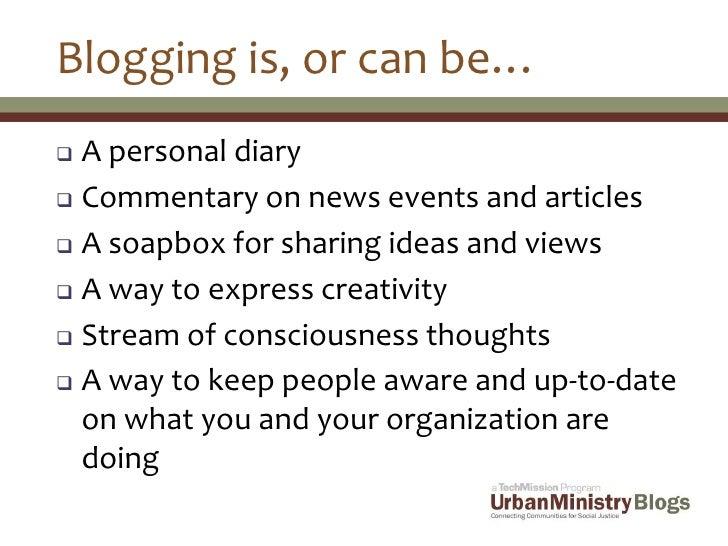 UrbanMinistry.org Blogger Presentation Slide 3
