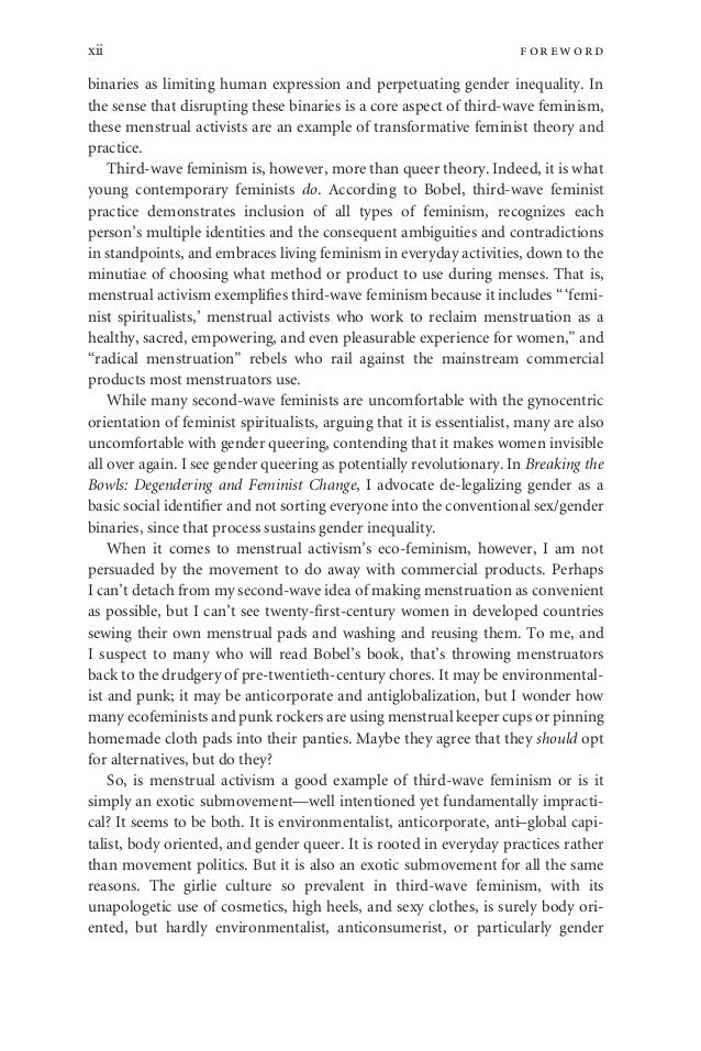 new blood third wave feminism  acknowledgmentsxvi 13