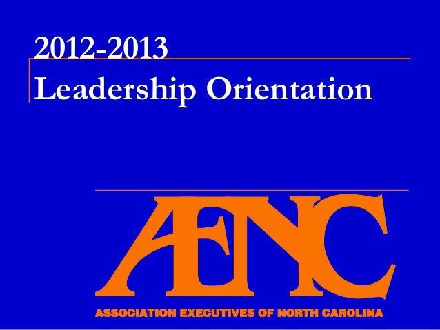 2012-2013Leadership Orientation