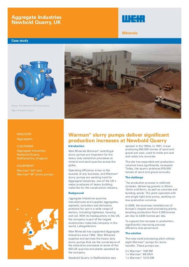 Newbold quarry warman ah case study_ame on