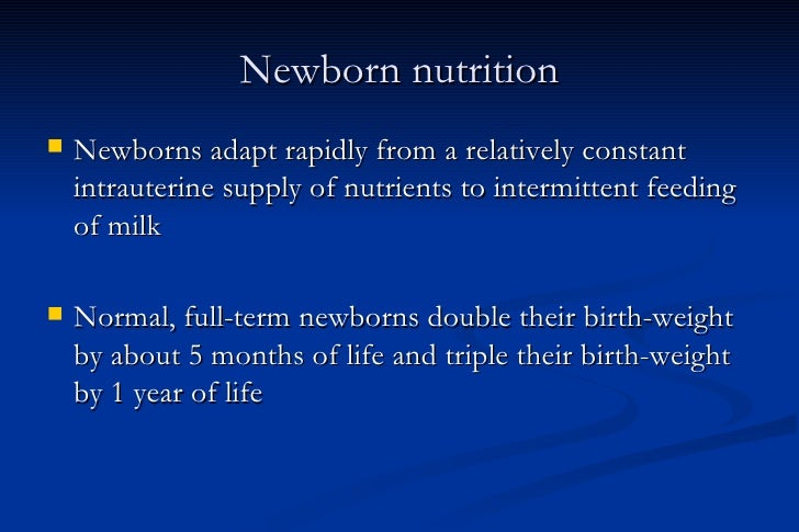 newborn nutrition ppt