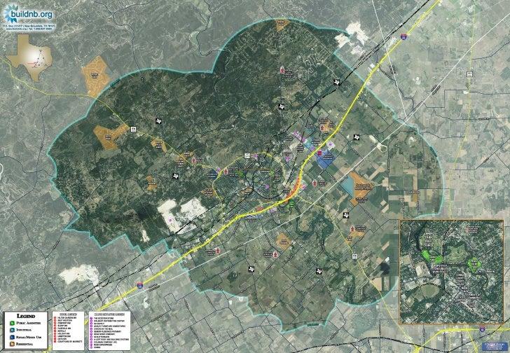 New Braunfels Aerial Map