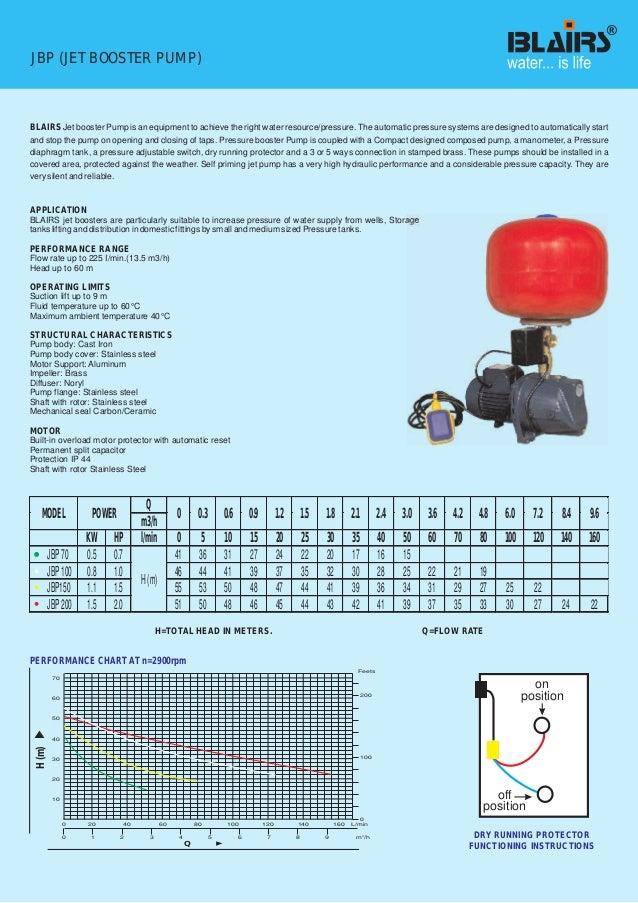 Booster Pump Water Tank Installation Diagram