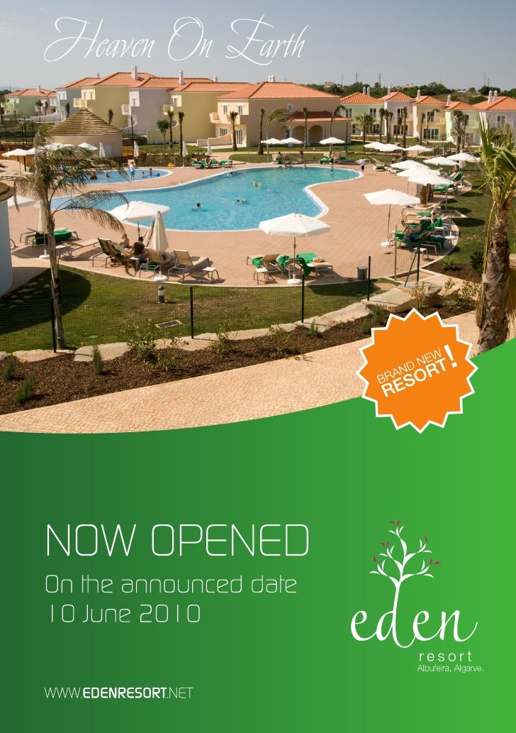 Brochure - Eden Resort Vacations - Algarve Portugal