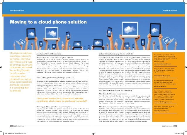 communications  communications  Moving to a cloud phone solution  Cloud phone solutions, sometimes referred to as hosted, ...