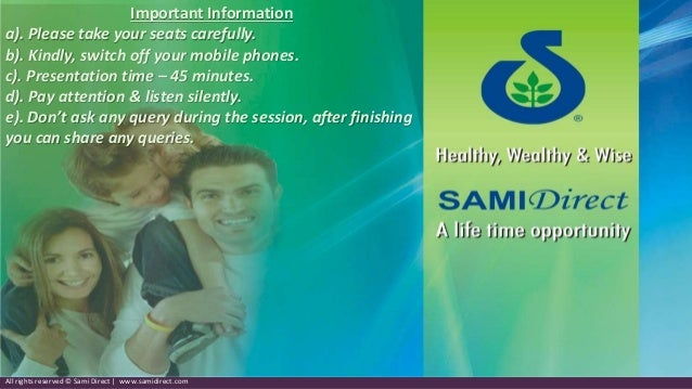 sami direct business plan ppt templates