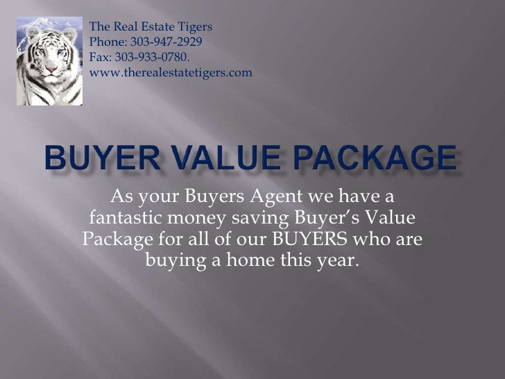 Buyer Value Package<br />As your Buyers Agent we have a fantastic money saving Buyer's Value Package for all of our BUYERS...
