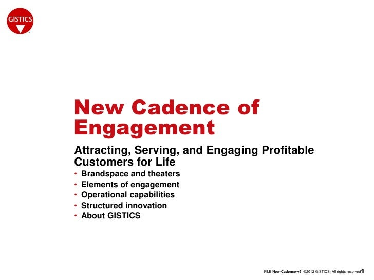 New Cadence ofEngagementAttracting, Serving, and Engaging ProfitableCustomers for Life•   Brandspace and theaters•   Eleme...