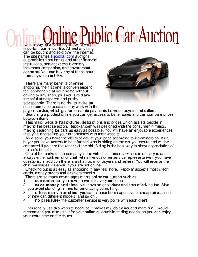 Online Public Car Auction >> Online Public Car Auction In Usa