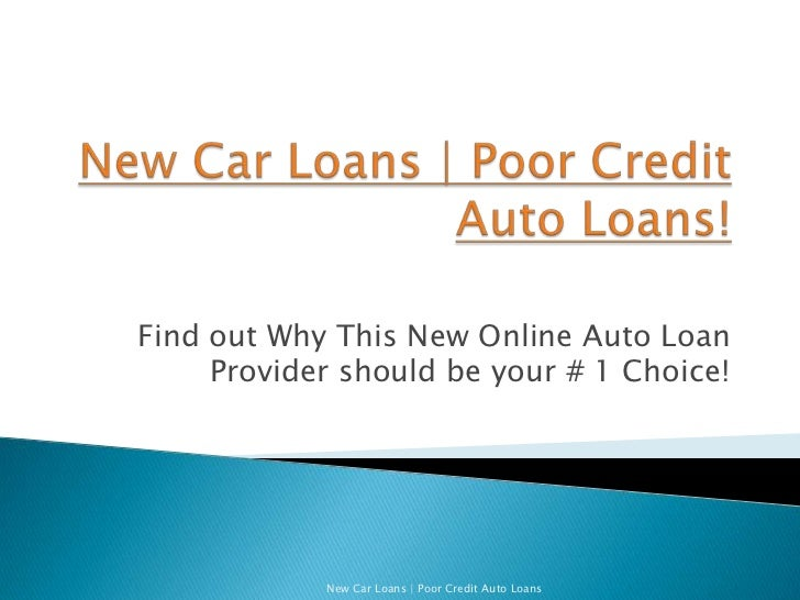 Used Car Loan For People With Poor Credit