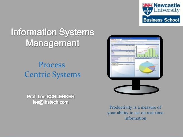 ©2012 LHST sarl Process Centric Systems Productivity is a measure of your ability to act on real-time information