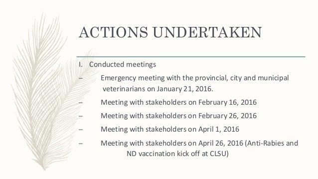 Memorandum of Agreement (Anti-Rabies & ND Vaccination)