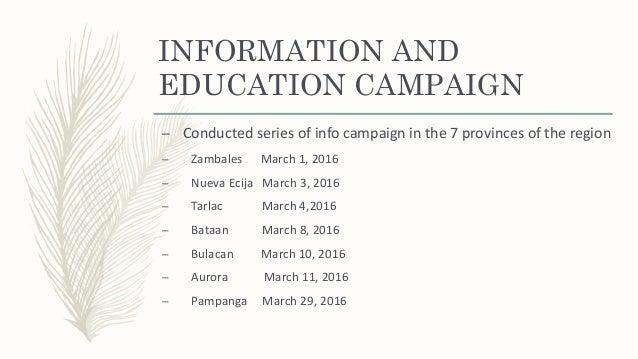 QUARANTINE ACTIVITIES –Quarantine Check points –Aurora √ Pampanga x –Bataan √ Tarlac √ –Bulacan √ Zambales √ –Nueva Ecija √