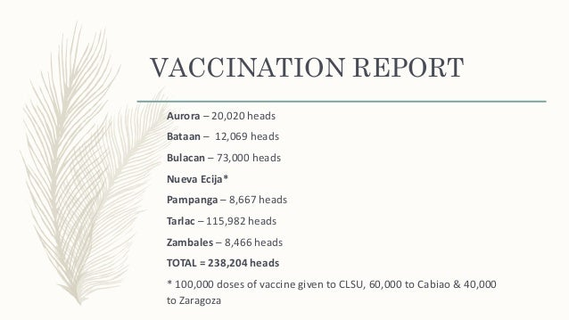 Newcastle disease outbreak in region III by Dr E Lapuz