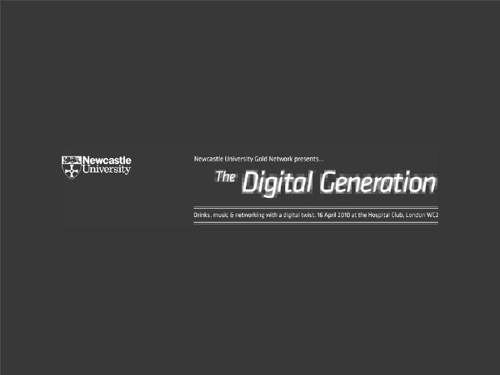 The Digital Generation?  Ewan McIntosh notosh.com digital media | education   N   o Tosh       Limited                    ...