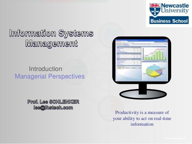 Introduction Managerial Perspectives The Amaté platform Productivity is a measure of your ability to act on real-time info...