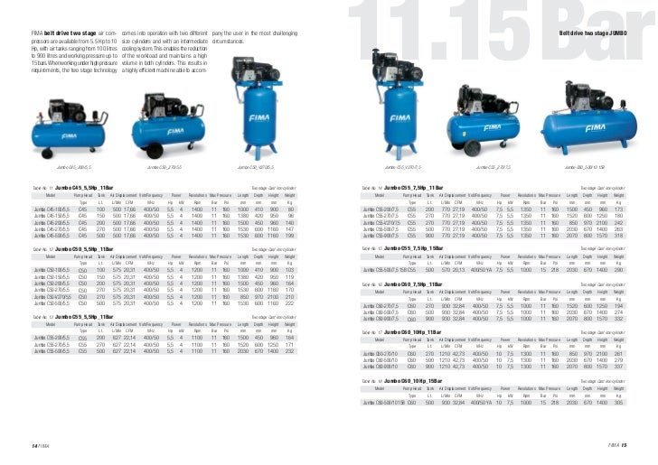 New Catalogue Fima Compressors