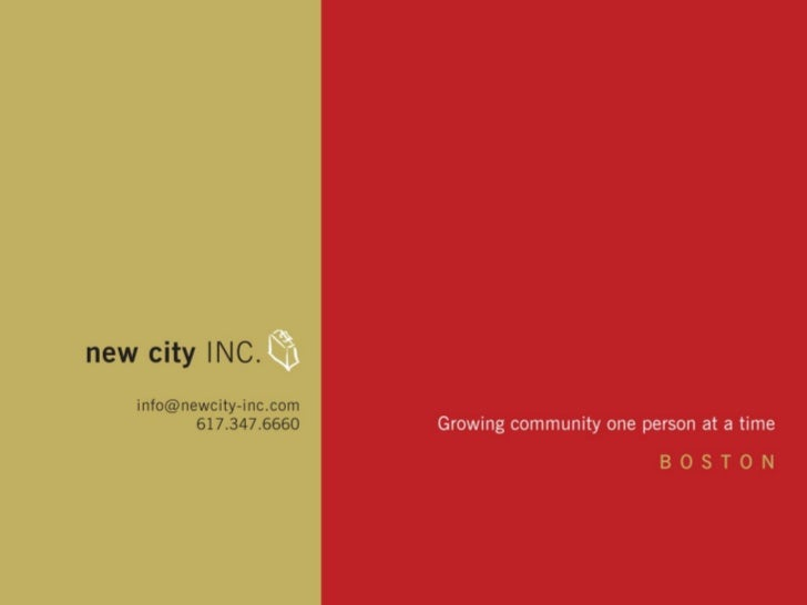 WHAT DO WE DO?new city INC. helps attract talent to greater  Boston from a lifestyle perspective. We offer  personalized r...