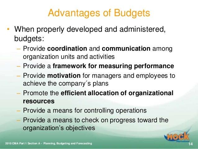 budgeting advantages disadvantages