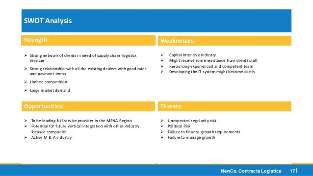 swot analysis of logistics industry Need freight packing & logistics services industry data industry statistics are  available in these ibisworld canada market research reports click here  draft  business plans and pitch books and conduct benchmarking and swot analysis.