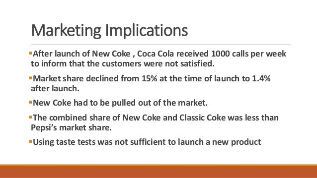 product development failure new coke New coke was a coca cola brand failure story in 1985 the  the problem, as  coca-cola perceived it, came down to the product itself as the.