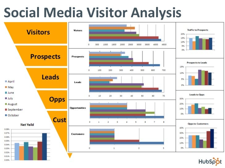 Social Media Visitor Analysis Visitors Prospects Leads Opps Cust