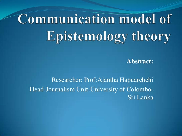 Abstract:       Researcher: Prof:Ajantha HapuarchchiHead-Journalism Unit-University of Colombo-                           ...
