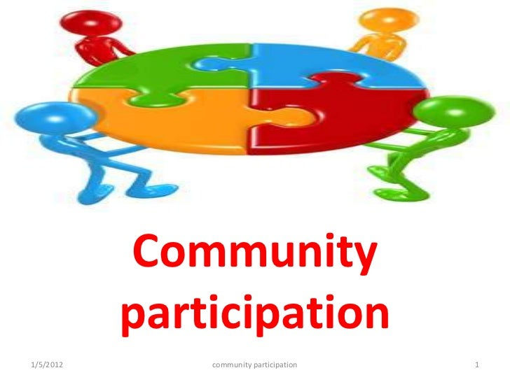 thesis on community participation