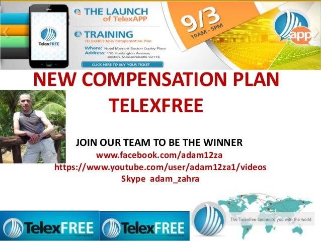 NEW COMPENSATION PLAN TELEXFREE JOIN OUR TEAM TO BE THE WINNER www.facebook.com/adam12za https://www.youtube.com/user/adam...