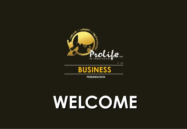BUSINESS PRESENTATION WELCOMEWELCOME V 1.0
