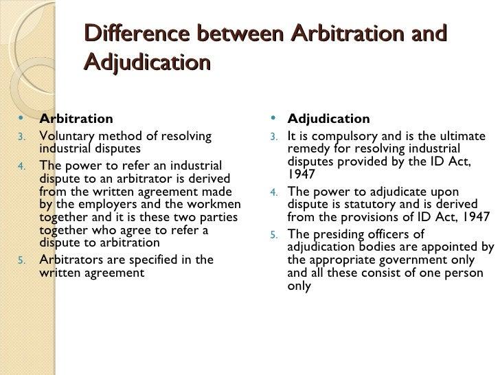 methods to resolving industrial disputes Industrial disputes: how to be settled legal service india state intervention in dispute resolution became more systematic and effective arbitration and adjudication are well known methods for settlement of industrial disputes collective bargaining.