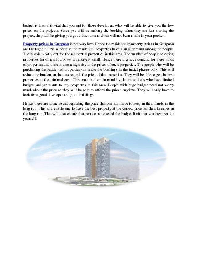 budget is low, it is vital that you opt for those developers who will be able to give you the low prices on the projects. ...