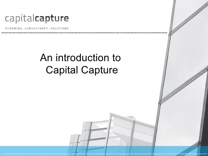 An introduction to Capital Capture