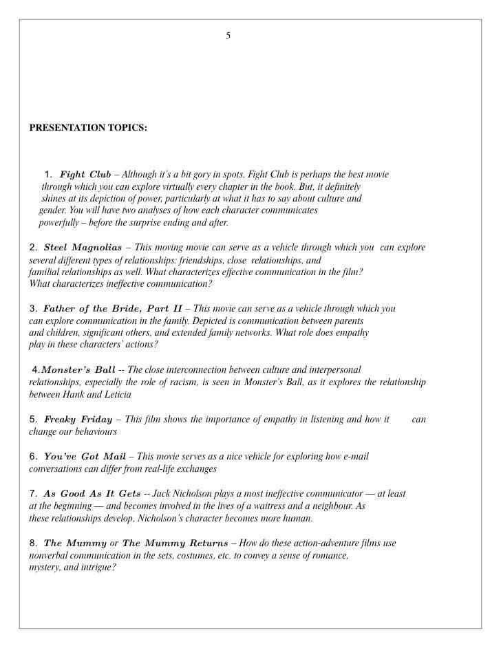 new course module  5 5 presentation topics