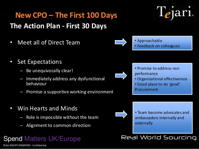 New CPO The First 100 Days Action Plan