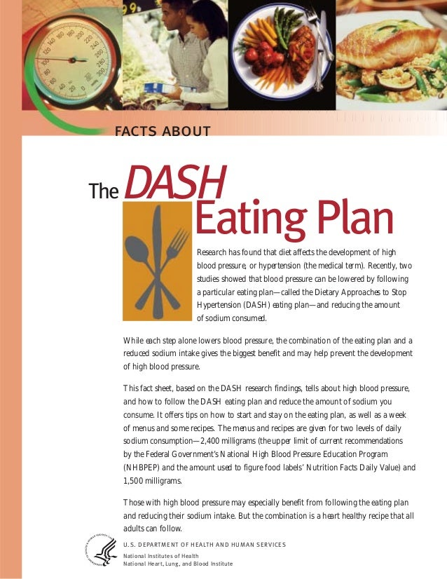 the dash diet only reduces sodium intake