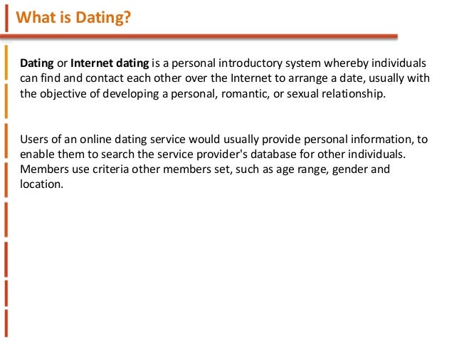 Age range for dating sites