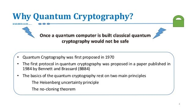 Quantum key cryptography