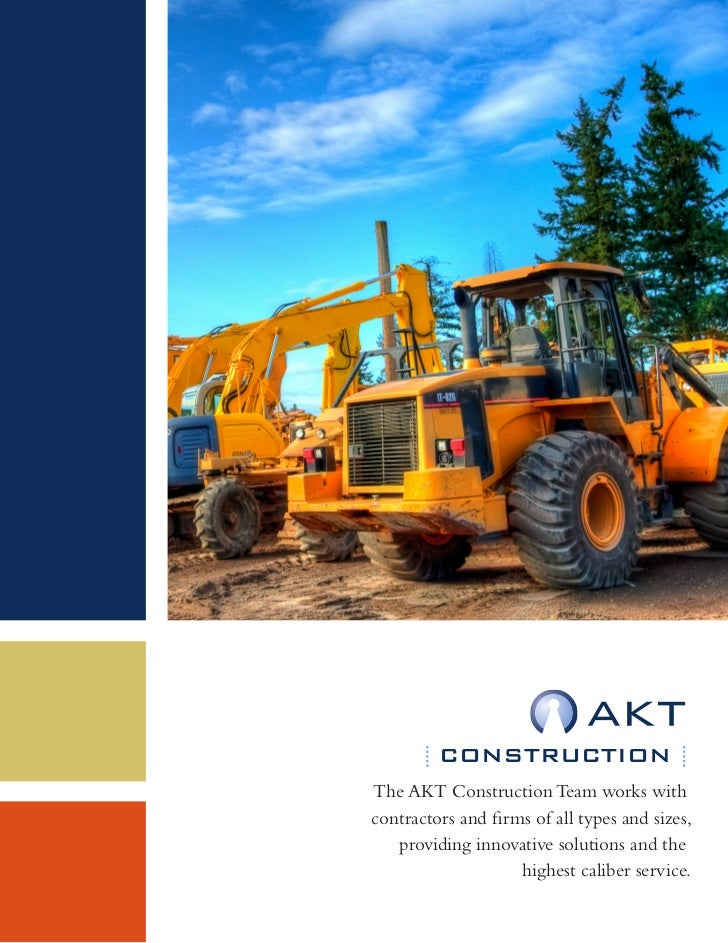 CONSTRUCTIONThe AKT Construction Team works withcontractors and firms of all types and sizes,   providing innovative solut...