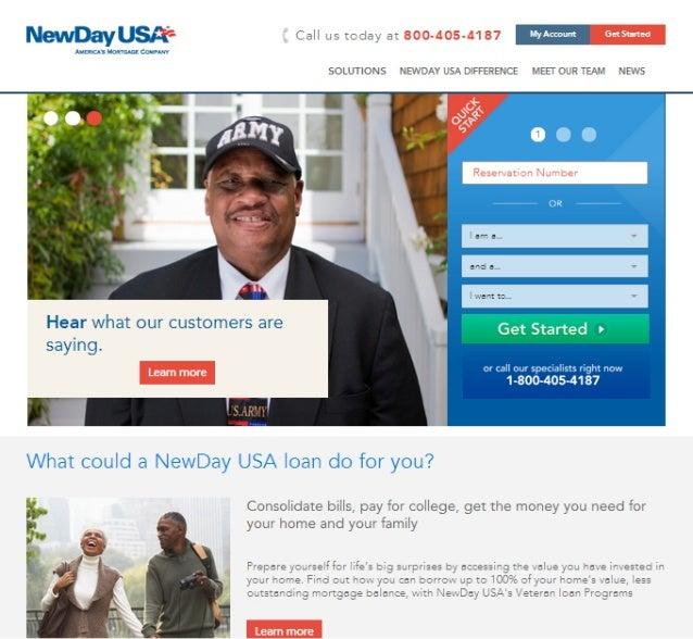 NewDay USA Website Rebrand