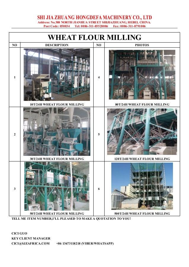 New design wheat flour mill