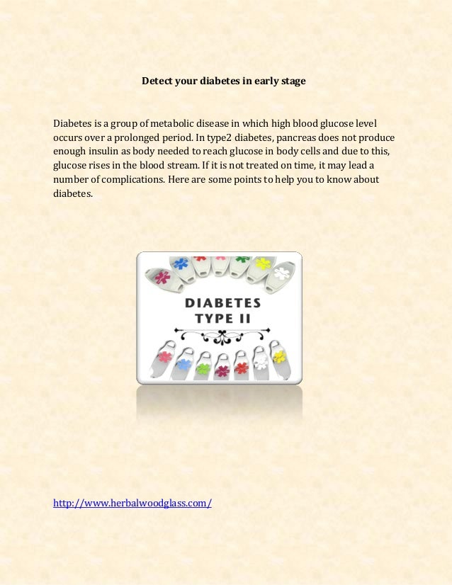 New detect your diabetes in early stage
