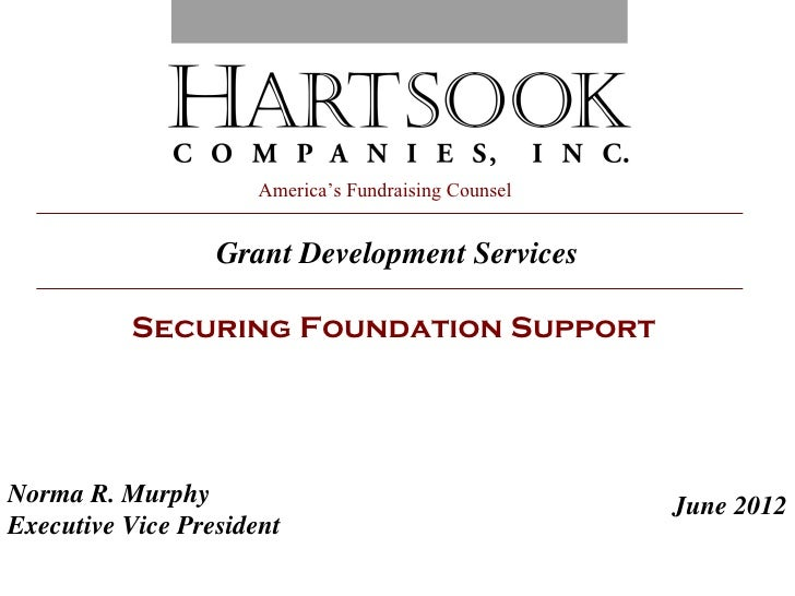 America's Fundraising Counsel                  Grant Development Services          Securing Foundation SupportNorma R. Mur...