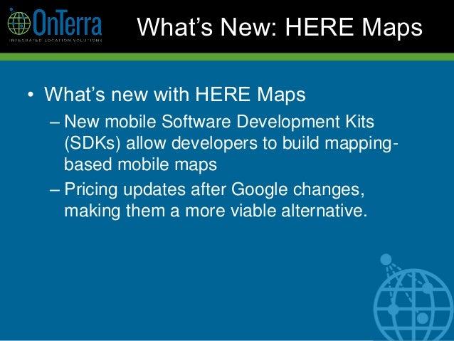 2018 GIS in Development: New Developments in Global Web Mapping Platf…