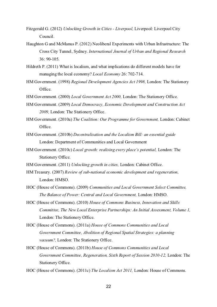 Fitzgerald G. (2012) Unlocking Growth in Cities - Liverpool, Liverpool: Liverpool City       Council.Haughton G and McManu...