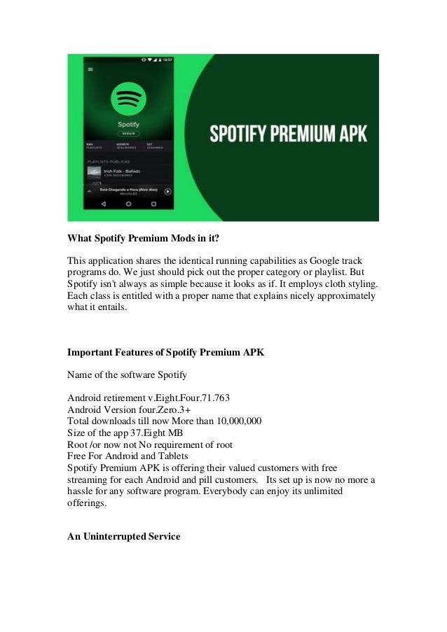 spotify tablet apk no root
