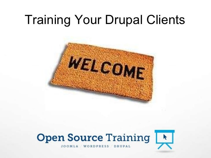 Training Your Drupal Clients