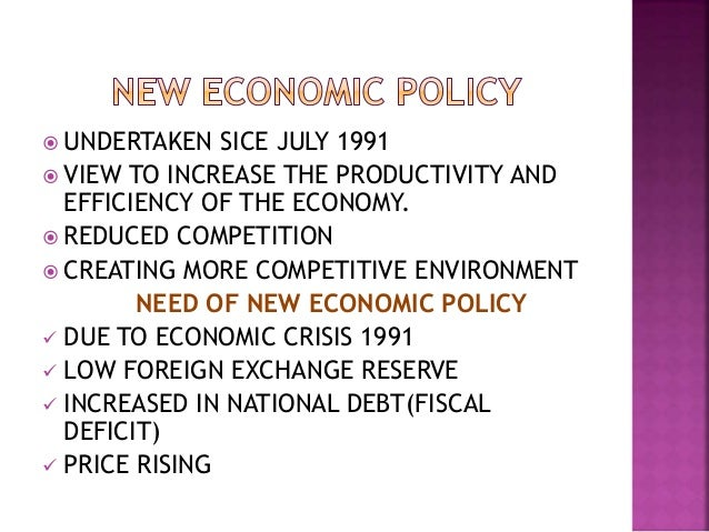 impact of new economic policy 1991 essay Over the years the new economic policy, or nep, introduced by the indian  government in 1991, morphed into a compendium of economic liberalization,  privatization and  mobile-phone density impacts economic expansion.