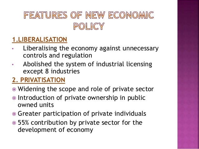 New economic policy,1991. Its aspect and effect on business