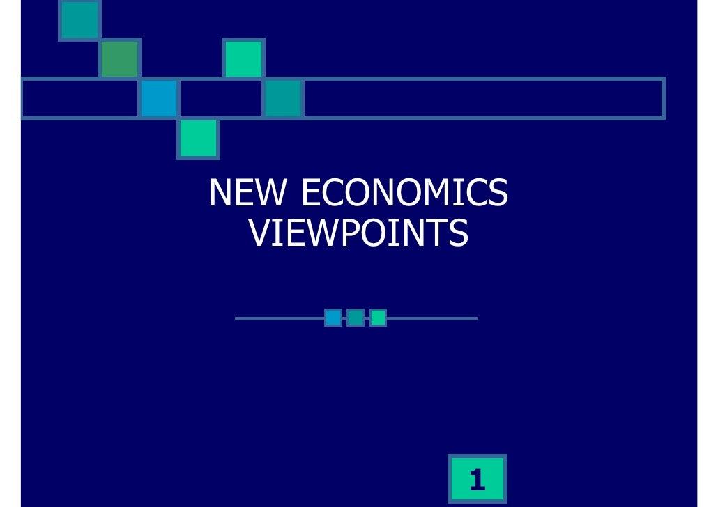 NEW ECONOMICS   VIEWPOINTS                1